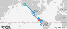 Pan American between Anchorage and Cuzco (from Anchorage to Cuzco) - 108 destinations