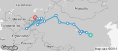 Silk Route between Bishkek and Xi\'an (from Bishkek to Xi\'an) - 15 destinations