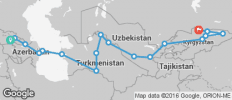 Silk Route between Tbilisi and Bishkek (from Bishkek to Tbilisi) - 18 destinations