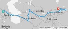 Silk Route between Tbilisi and Bishkek (from Bishkek to Tbilisi) - 18 destinations