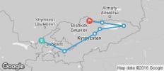Silk Route between Tashkent and Bishkek (from Bishkek to Tashkent) - 7 destinations