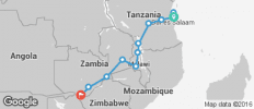 Africa East & South between Zanzibar and Victoria Falls (from Victoria Falls to Zanzibar) - 12 destinations
