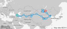 Silk Route between Tbilisi and Ulaanbaatar (from Tbilisi to Ulaanbaatar) - 50 destinations