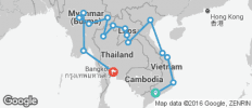 Vietnam, Laos & Myanmar on a Shoestring - 16 destinations