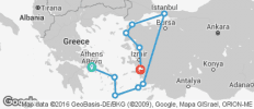Athens to Gallipoli - 10 destinations