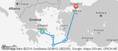 Athens to Istanbul - 6 destinations