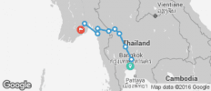 Biking from Bangkok to Yangon - 10 destinations