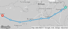 Spanish Camino by Bike: Stage 1 - 10 destinations