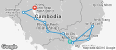 Road Biking from Saigon to Angkor - 13 destinations