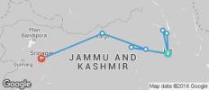 Leh - Nubra - Uleytokpo - Kargil - Srinagar - 8 destinations