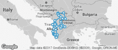 Albania, Macedonia and Kosova - 29 destinations