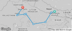 India Circuit between Kathmandu and Delhi - 8 destinations