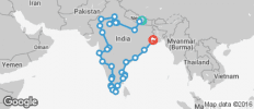 India Circuit between Kathmandu and Kolkata - 33 destinations