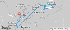 Central Asia Adventure – Almaty to Tashkent - 9 destinations