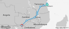 Zanzibar to Zambezi - 13 destinations