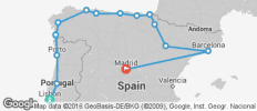 Lisbon & Northern Spain with Madrid - 14 destinations
