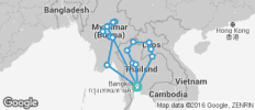 Myanmar, Thailand & Laos - 19 destinations