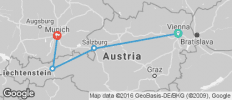 Vienna, Salzburg, Innsbruck & Munich - 4 destinations