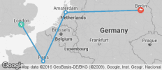London to Paris and Berlin Tour - 4 destinations