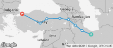 Silk Route between Istanbul and Tehran (from Tehran to Istanbul) - 8 destinations
