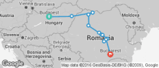 Budapest to Bucharest - 12 destinations