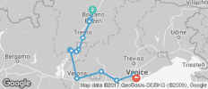 Bolzano, Verona & Venice Self-Guided Ride - 13 destinations