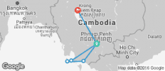 TruTravels Cambodia Monkey Ladder (from Phnom Penh to Siem Reap) - 8 destinations