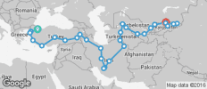 Istanbul To Bishkek (78 Days) Turkey, Iran, The Stans And Kyrgyzstan - 30 destinations