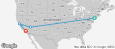 New York to Los Angeles Adventure Tour - 4 destinations