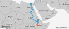 Cairo To Addis Ababa (38 Days) Nile Trans - 19 destinations