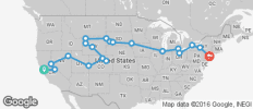 Northern USA Road Trip - 20 destinations