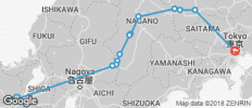 Nakasendo Self-guided Walking 5 Days (from Kyoto to Tokyo) - 12 destinations