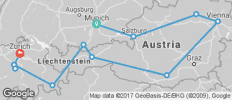 Country Roads of (from Munich to Zurich) - 12 destinations