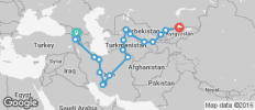 Tbilisi To Bishkek (42 Days) Caucasus To Kyrgyzstan - 20 destinations