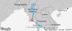Spirit of Myanmar & the Untouched Upper Irrawaddy with Bangkok - Southbound - 16 destinations