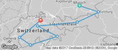 Alpine Escapade (from Munich to Zurich) - 8 destinations