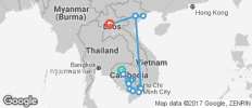The Heart of Cambodia & Vietnam with Luang Prabang - Southbound - 23 destinations