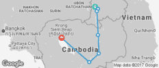 Cycle, Kayak and Zip-line: Paxse to Siem Reap - 10 destinations