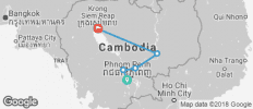 Phnom Penh and Siem Reap (from Phnom Penh to Siem Reap) - 5 destinations