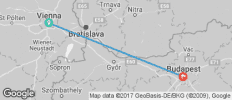 Vienna to Budapest Tour - 2 destinations