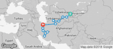 Uzbekistan - Turkmenistan - Iran Tour - 12 destinations