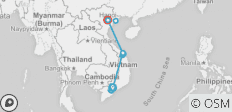 Golden Vietnam 10 days - 14 destinations