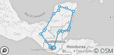 La Ruta Maya - Day of the Dead Festival Departure - Reverse - 19 destinations