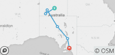Alice Springs to Adelaide Overland - 6 destinations