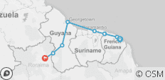 Guyanas Explorer (Cayenne to Boa Vista) - 9 destinations