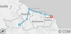 Guyanas Explorer (Boa Vista to Cayenne) - 9 destinations