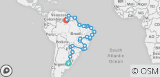 Buenos Aires, Brazil & the Guyanas with Carnival - 36 destinations