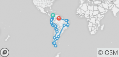 Ultimate South America Overland with Carnival - 99 destinations