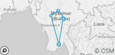 Best of Myanmar on the Road (10D9N) - 14 destinations