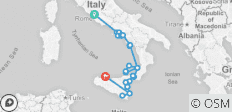 Rome to Sicily - 27 destinations